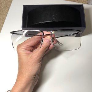 Prada Clear SunGlasses w/ case & box